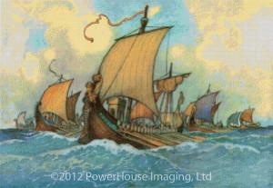 Greek Fleet -  Warwick Goble