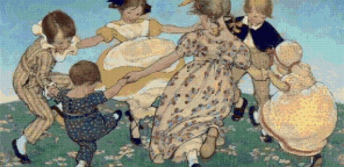 Round the Ring of Roses - Jessie Willcox Smith