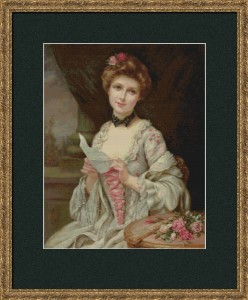 The Lover Letter (Francious Martin-Kavel) - Cross Stitch Chart