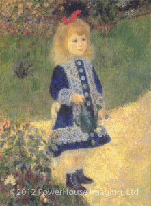 A Girl with a Watering Can (Pierre-Auguste Renoir) - Cross Stitch Chart