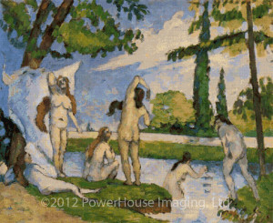 Bathers (Paul Cezanne) - Cross Stitch Chart