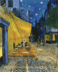Café Terrace on the Place du Forum (Vincent van Gogh) - Cross Stitch Chart