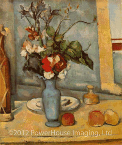 The Blue Vase (Paul Cezanne) - Cross Stitch Chart