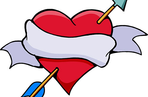 Valentine's Day Heart and Arrow