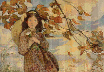 Summer's Passing (Jessie Willcox Smith ) Cross Stitch Design
