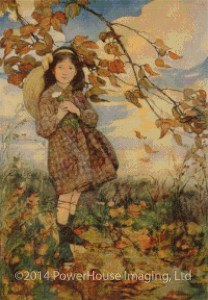 Summer's Passing (Jessie Willcox Smith) Cross Stitch Design